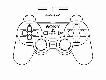Controller Playstation Pad Ps4 Drawing Coloring Xbox