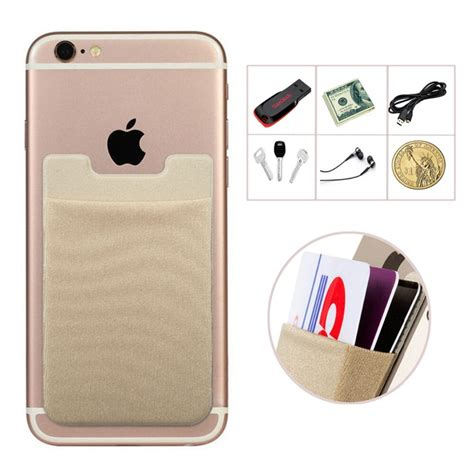 Phone card holder compatible with iphone,samsung galaxy,and all most smartphones. 2 X Flexible Pouch ID/Credit Card Holder Adhesive Sticker for iPhone 5 5s 6 6s S5 S6 Note 5 S7 ...