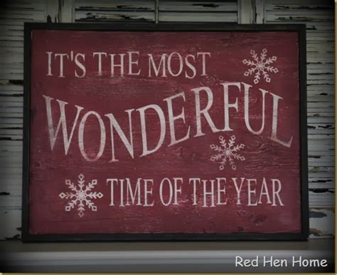 red hen home checking in christmas signs