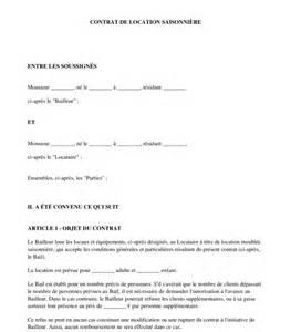 Modele Contrat Location Meublé Gratuit by Contrat De Location Saisonni 232 Re Mod 232 Le Word Et Pdf
