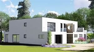 Illustration De Maison 3d Contemporaine  Toiture Terrasse