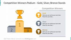 15 Winner Podium Steps Ppt Graphics With Gold Silver