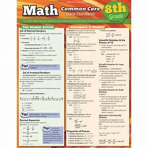 Math Common Core 8th Grade Laminated Study Guide    Charts