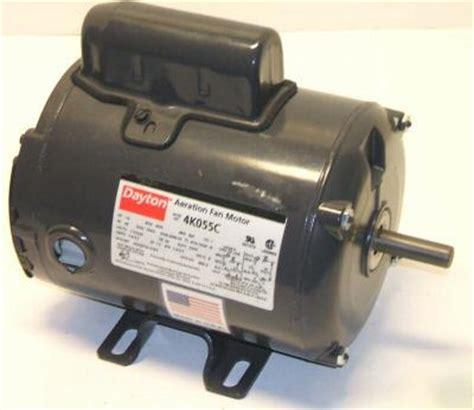 dayton capacitor start fan motor 1 2 hp 1ph 3450 rpm