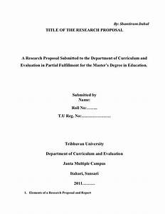 how to create a research proposal title