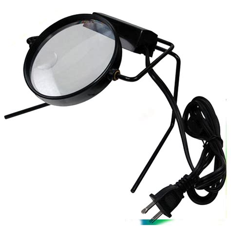 lighted magnifying l stand illuminated magnifier on stand l desk magnifying glass