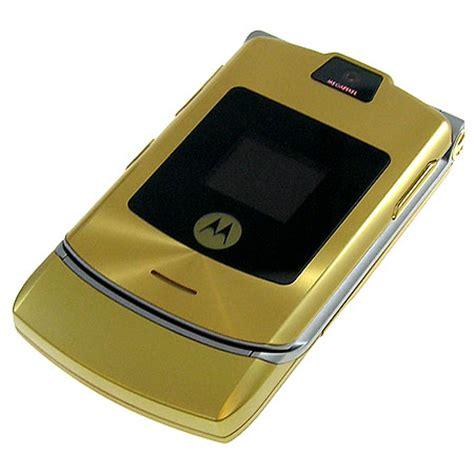 gold phone sim free mobile phone motorola v3i limited edition d g