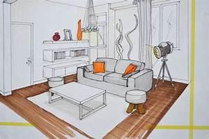 comment dessiner un salon With dessiner maison en 3d 2 interieur maison en perspective