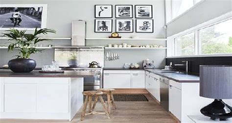 couleur peinture pour cuisine decoration cuisine blanc et grise