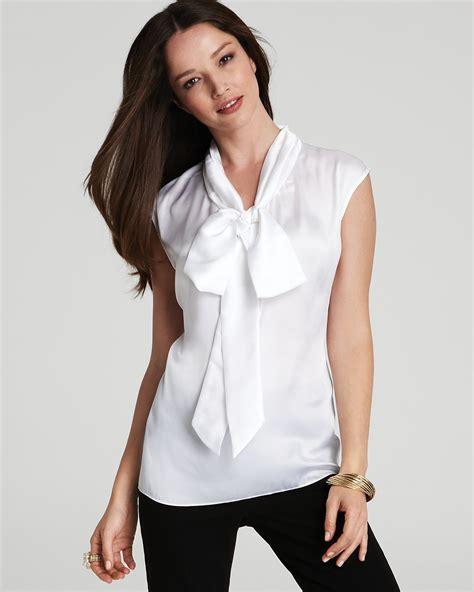 bow neck blouse jones york collection low bow tie neck blouse