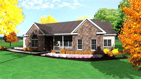 Single Level Home Designs by One Story Ranch House Plans 1 Story Ranch Style Houses
