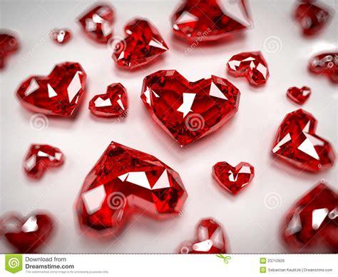 heart rubies royalty  stock image image