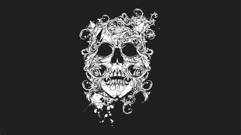 scull black tatto decor 3840x2160 wallpaper