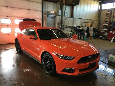 mustang gt competition orange mustangs ford