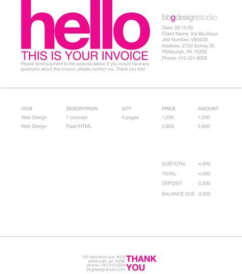 invoice design template freelance invoice template free invoice exle