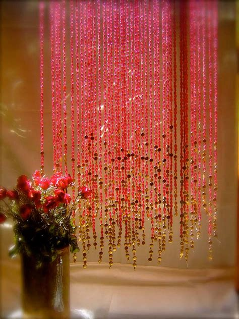 pomegranate gold beaded curtain memories of a butterfly