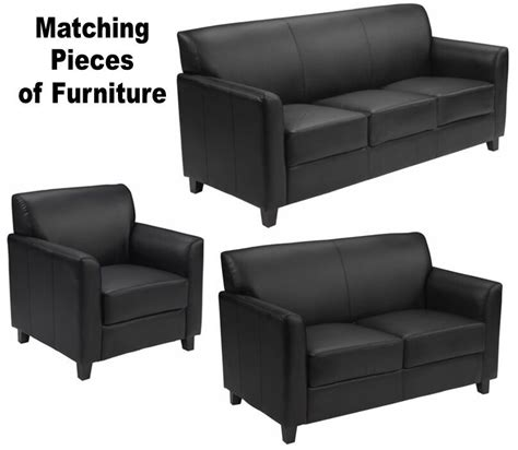 office settee furniture matching black leather furniture sofa loveseat chair sofas