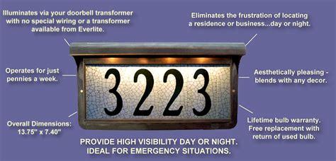 pewter everlite illuminated house numbers