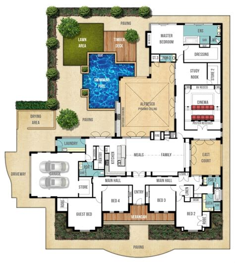 house plans with pool house plan with swimming pool escortsea