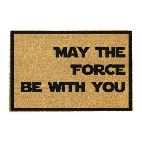you and the mat buy artsy doormats may the be with you door mat amara