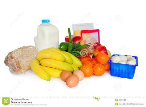 basics of cuisine groceries or basic food package stock photo image 33837400
