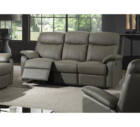 canape cuir relax electrique 2 places canapé relax électrique 2 places cuir gris 39 liberty 39 6823