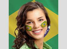 Virtual Brazil Face Paint add a flag of Brazil on a photo