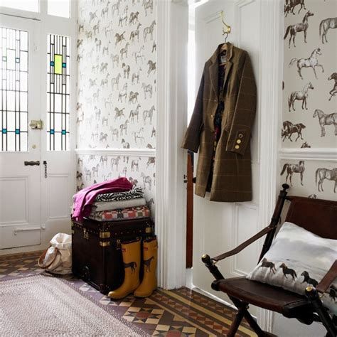 country hallway ideas equestrian themed hallway heritage room schemes design ideas housetohome co uk