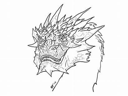 Smaug Dragon Drawing Getdrawings