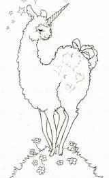 Llama Alpaca Coloring Drawing Lesson Printable Getdrawings sketch template