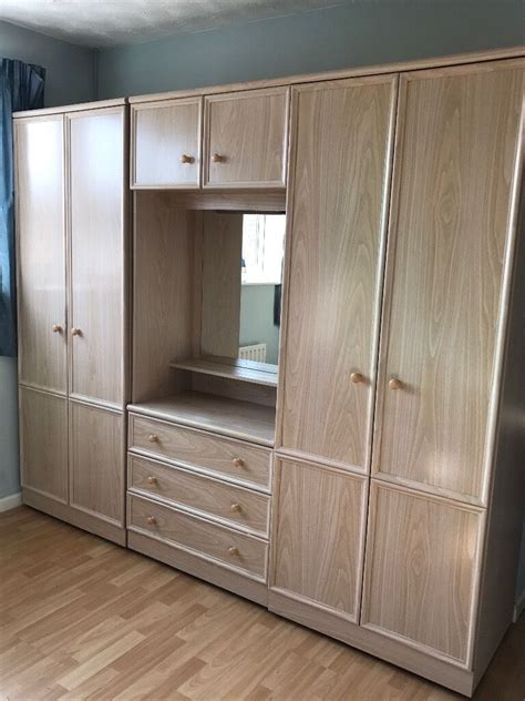 Wardrobe With Dressing Unit by 2 Wardrobes With Shelves Plus A Dressing Table Unit