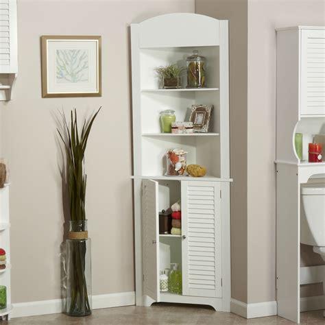bathroom linen tower corner storage cabinet   open