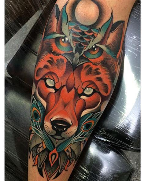 Lobo Tatuaje Tradicional