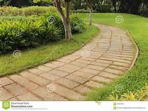 chemin en pierre de jardin photo stock image 62992531 With chemin de jardin en pierre