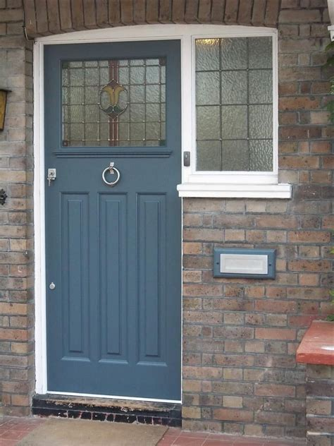 slate blue front door colour i like how it accents the