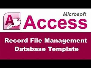Microsoft Access Project Management Template Record File Management Database Template For Microsoft