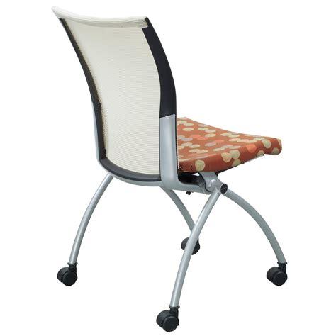 haworth x99 used seminar nesting chair multicolored