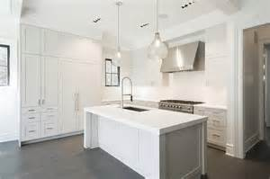 White Kitchen Islands White Kitchen Island With Two Seeded Glass Pendants Transitional Kitchen
