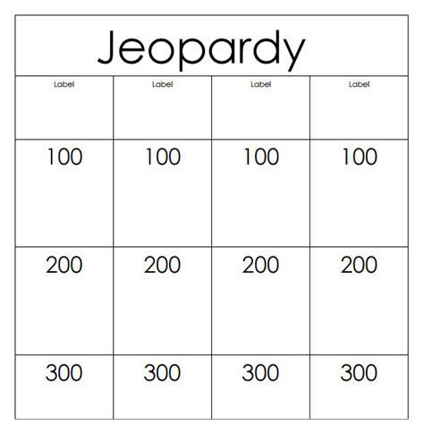 Jepordy Template by 7 Jeopardy Sles Sle Templates