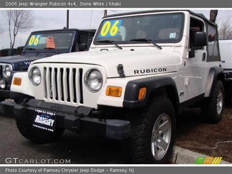jeep rubicon white interior stone white 2006 jeep wrangler rubicon 4x4 khaki