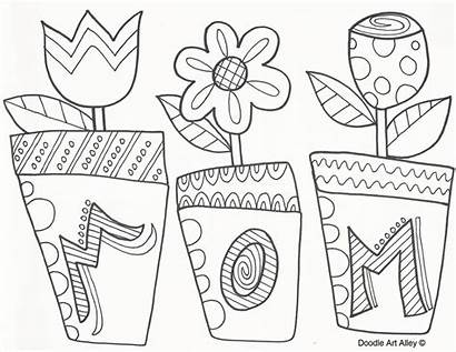 Coloring Alley Mother Pages Doodle Printable Mothers