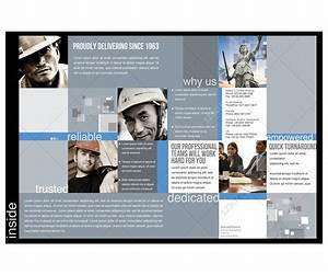 2 pages corporate brochure template for construction With free brochure templates for pages