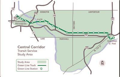 light rail mn green line central transit study metro transit