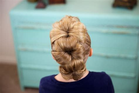 flower bun hawk cute girls hairstyles cute girls