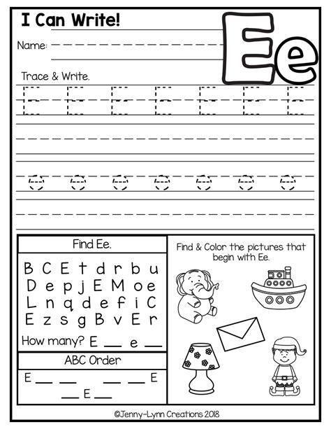 kindergarten abc worksheets  images alphabet