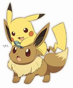 eevee and pickachu - Pokemon Picture
