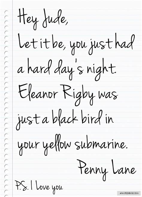 beatles love letter power  words pinterest love