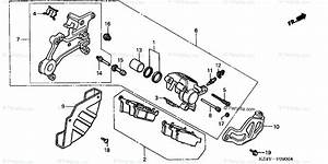 Honda Motorcycle 2001 Oem Parts Diagram For Rear Brake