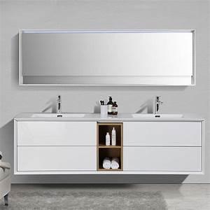 Meuble Double Vasque Salle De Bain : meuble salle de bain sublima en 190 cm de longueur ~ Edinachiropracticcenter.com Idées de Décoration