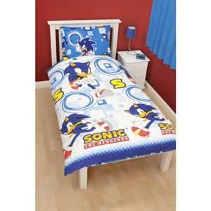 childrens boys sonic the hedgehog single quilt duvet cover bedding set ebay